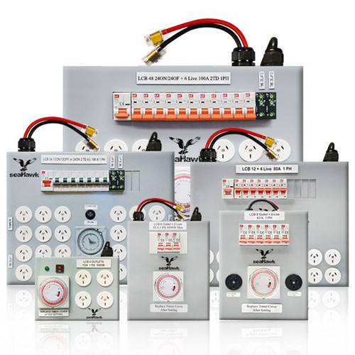 48 OUTLET LIGHT CONTROL BOARD 24 ON / 24 OFF + 6 LIVE - 2 X DELAY 100AMP