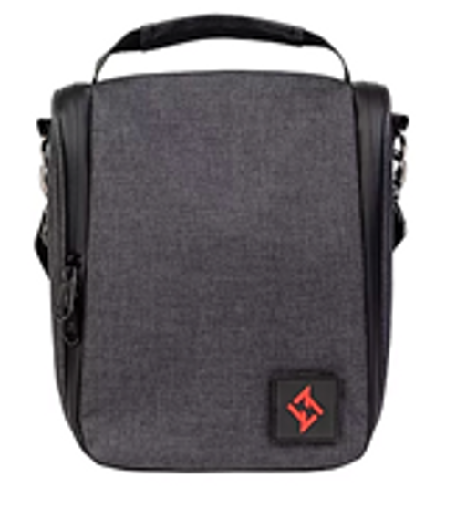 ZERO STEFANO SHOULDER BAG CHARCOAL