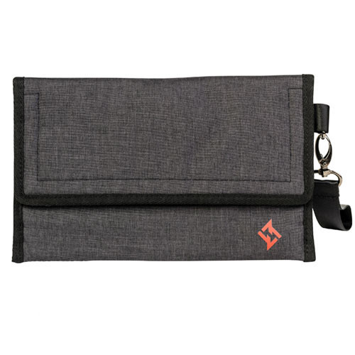 ZERO LEONARDO LOCKABLE WALLET CHARCOAL