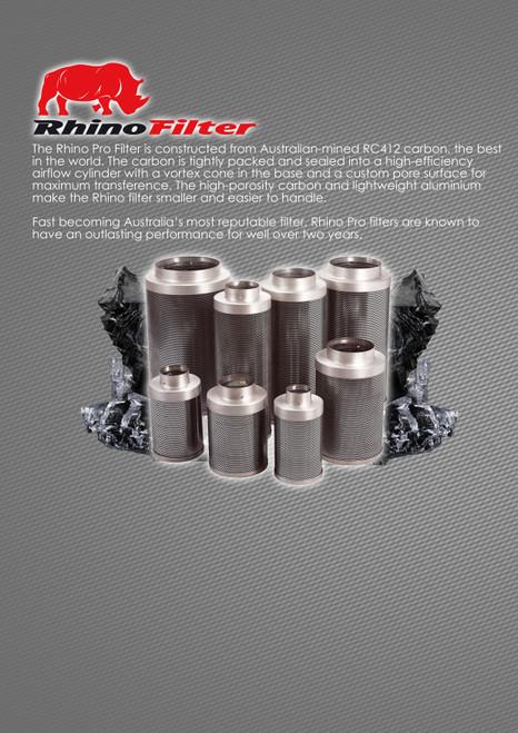 RHINO PRO CARBON FILTER 125MM X 400MM