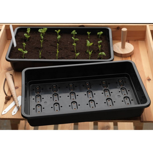 GARLAND STANDARD NETTED SEED TRAY 37.5 X 23 X 6CM BLACK