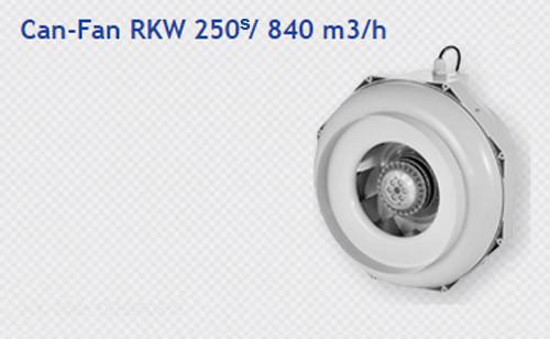 CAN-FAN RK 250S - 4 SPEED (225 LPS / 830 M3/H) PLASTIC BODY