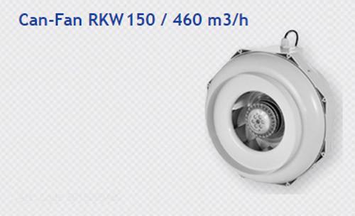 CAN-FAN RKW 150MM BACKWARD EXTRACTOR C/W TEMP CONTROL