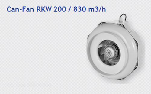 CAN-FAN RKW 200MM BACKWARD EXTRACTOR C/W TEMP CONTROL
