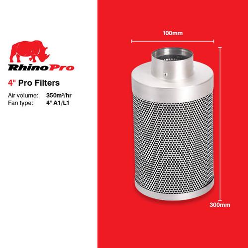 RHINO PRO CARBON FILTER 100MM X 300MM