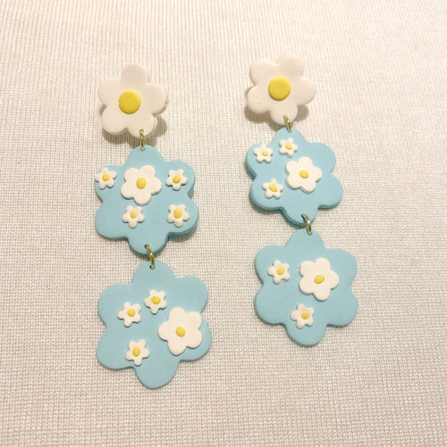 Margarita earrings  ~ light blue