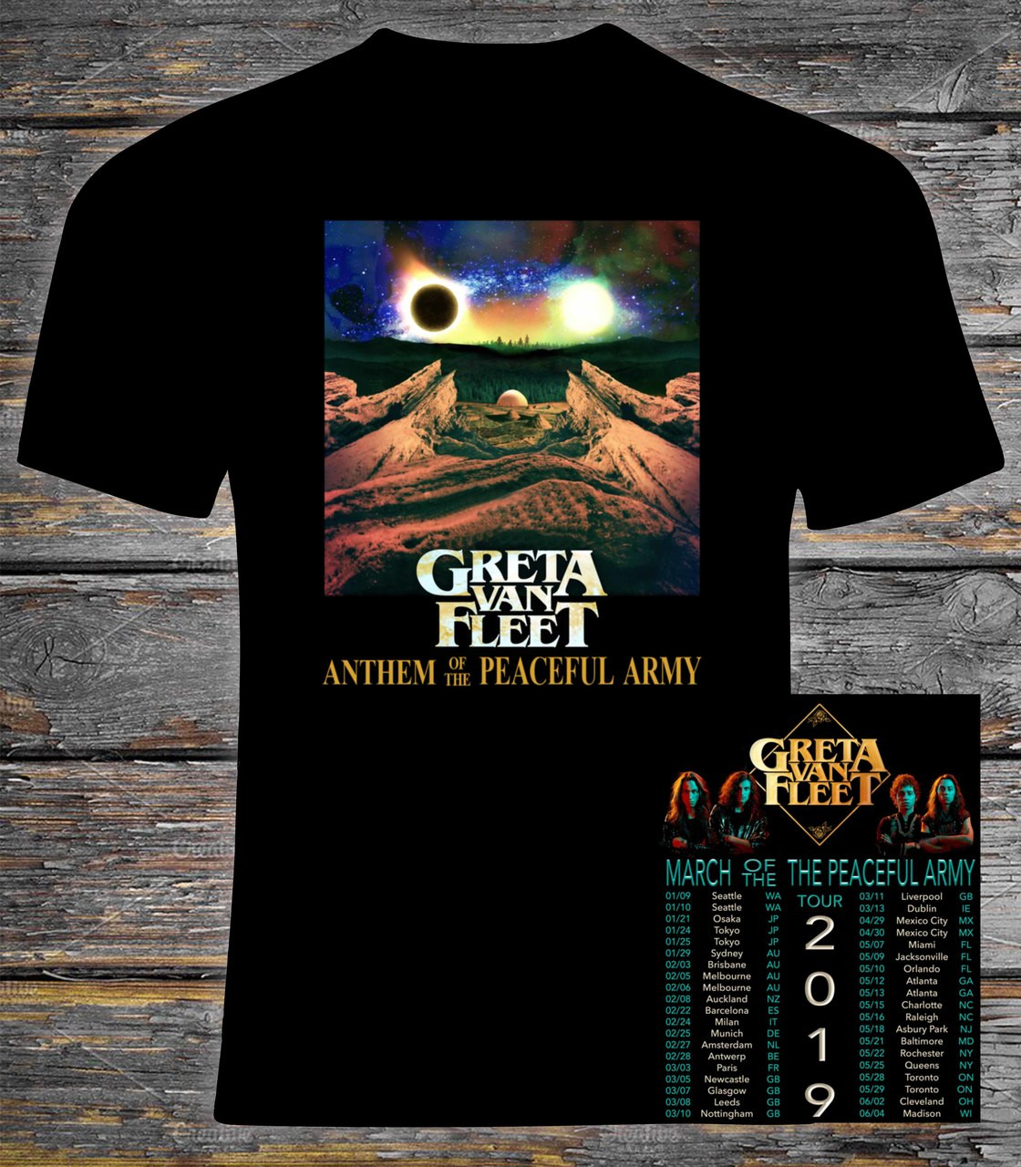best selection of 2019 new & pre-owned designer super cheap compares to Greta Van Fleet 2019 March of the Peaceful Army Concert Tour