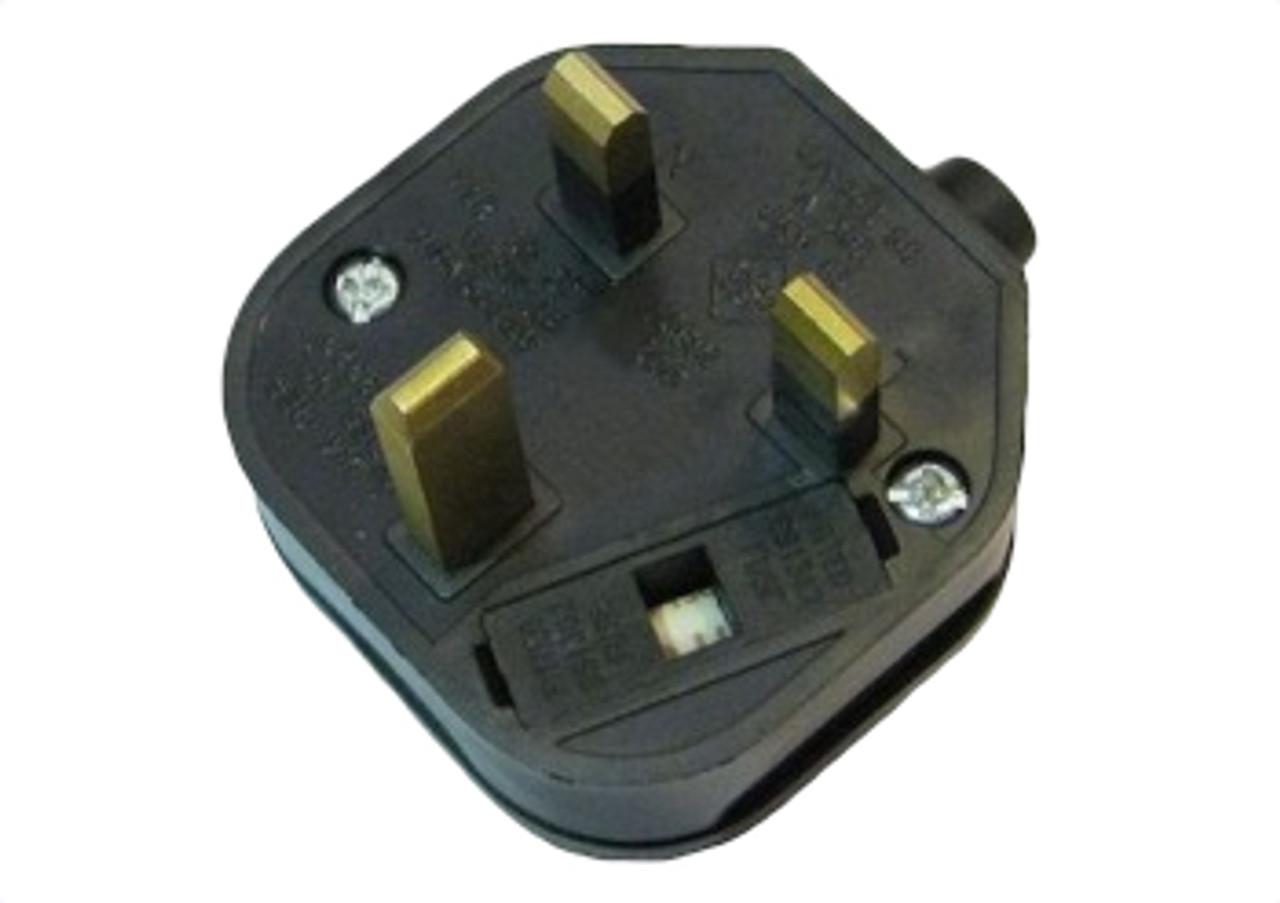 UK (BS1363) 13A fused plug - Black