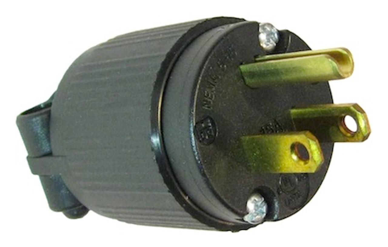 USA NEMA 5-15P 15A plug - Black