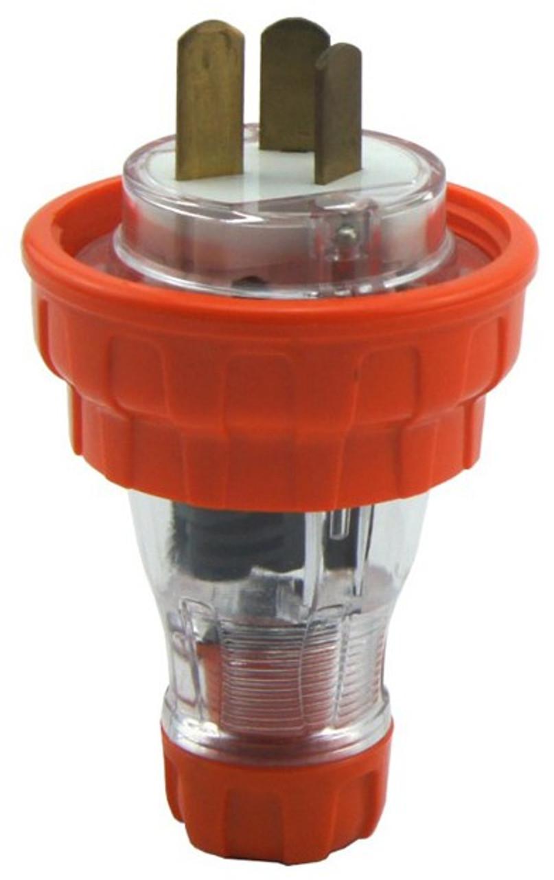 Captive (AS3123) 20A [IP66] flat pin plug