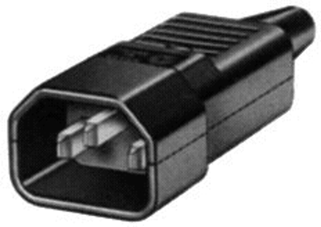IEC C14 10A plug - Black : Imported [NSW]