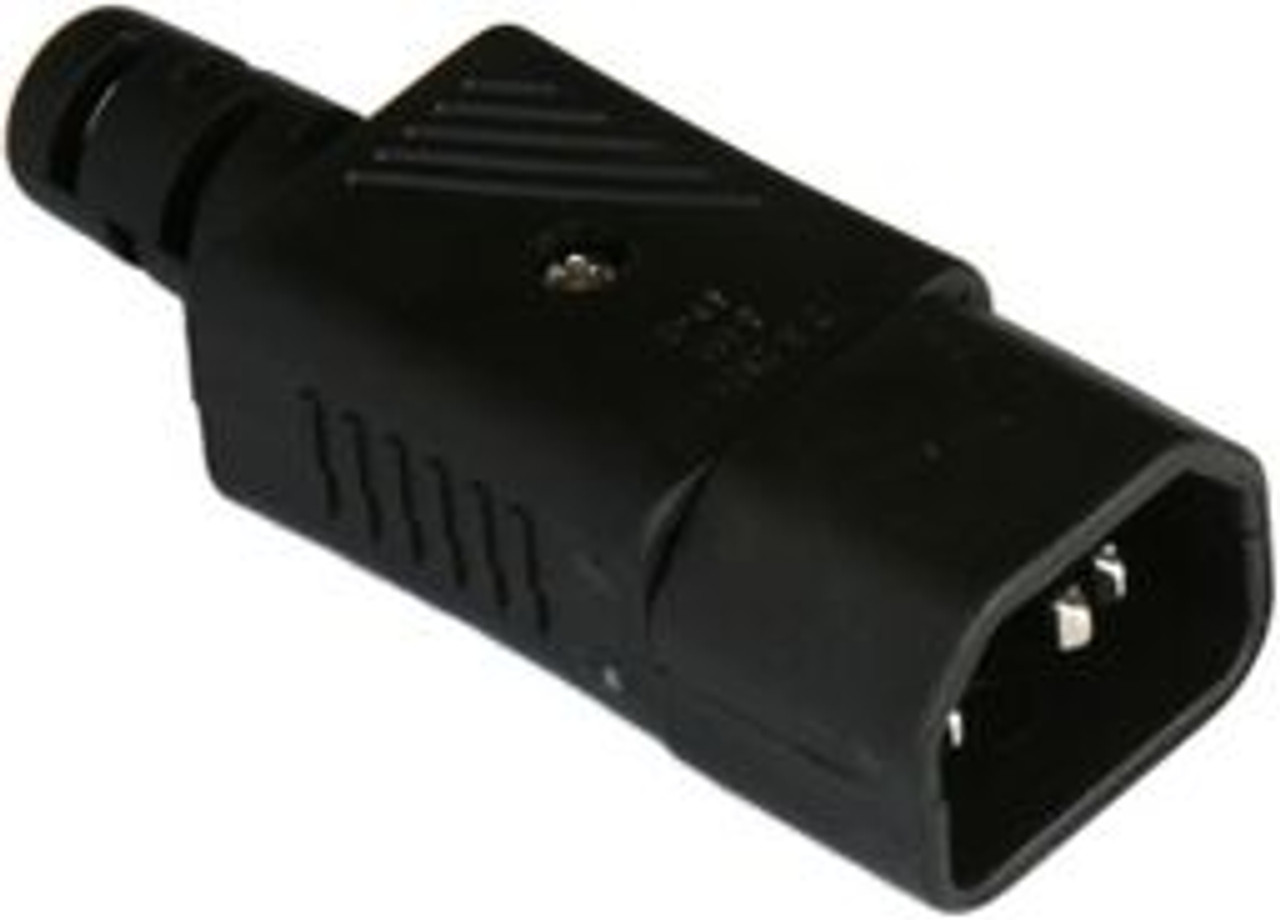 IEC C14 10A plug - Black : SAA