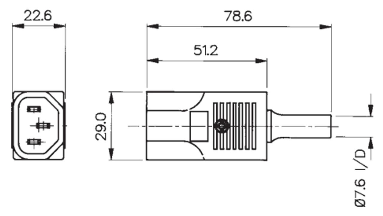 IEC C14 10A plug - White : Imported