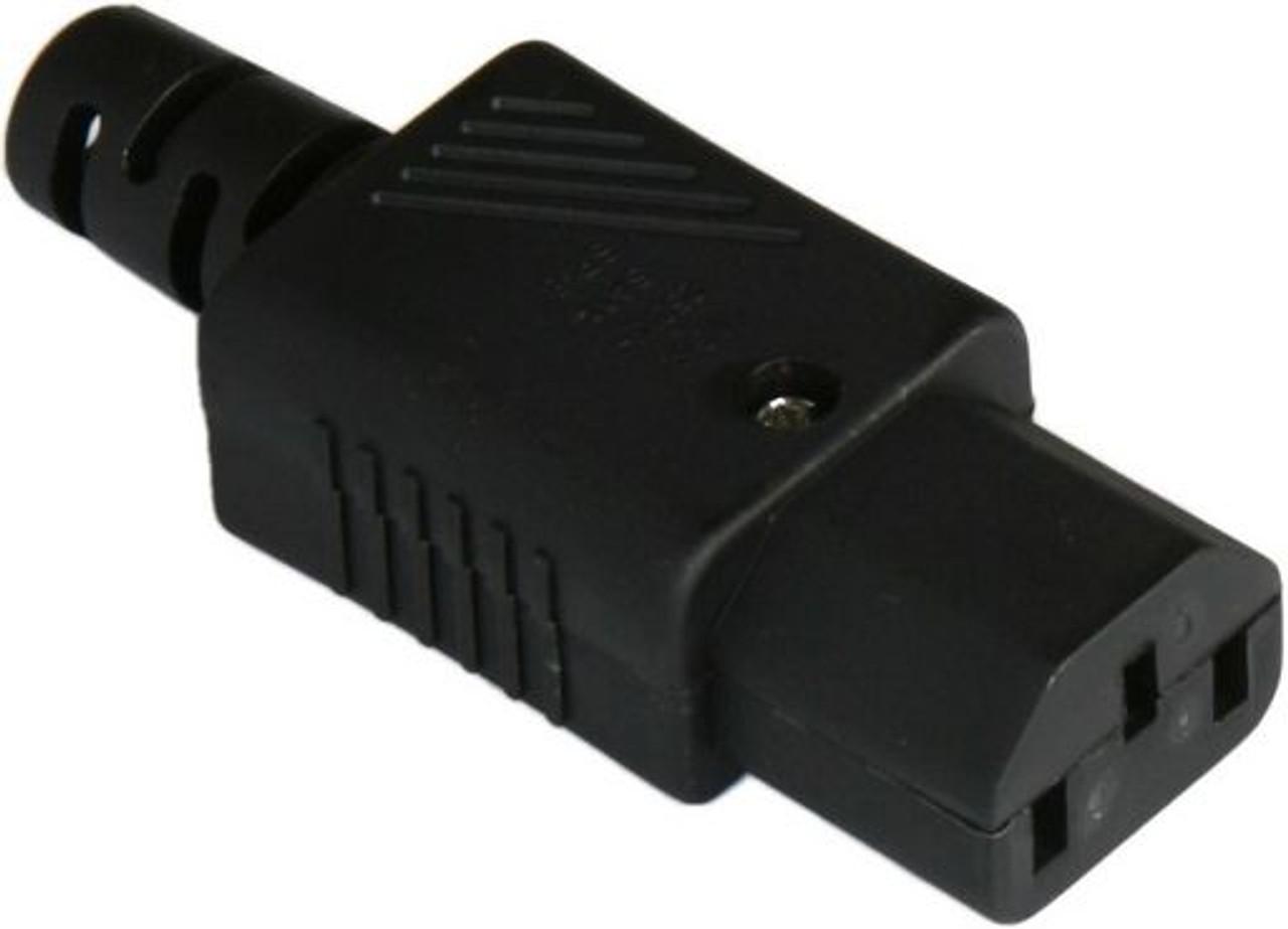 IEC C13 10A socket - Black : SAA Approved