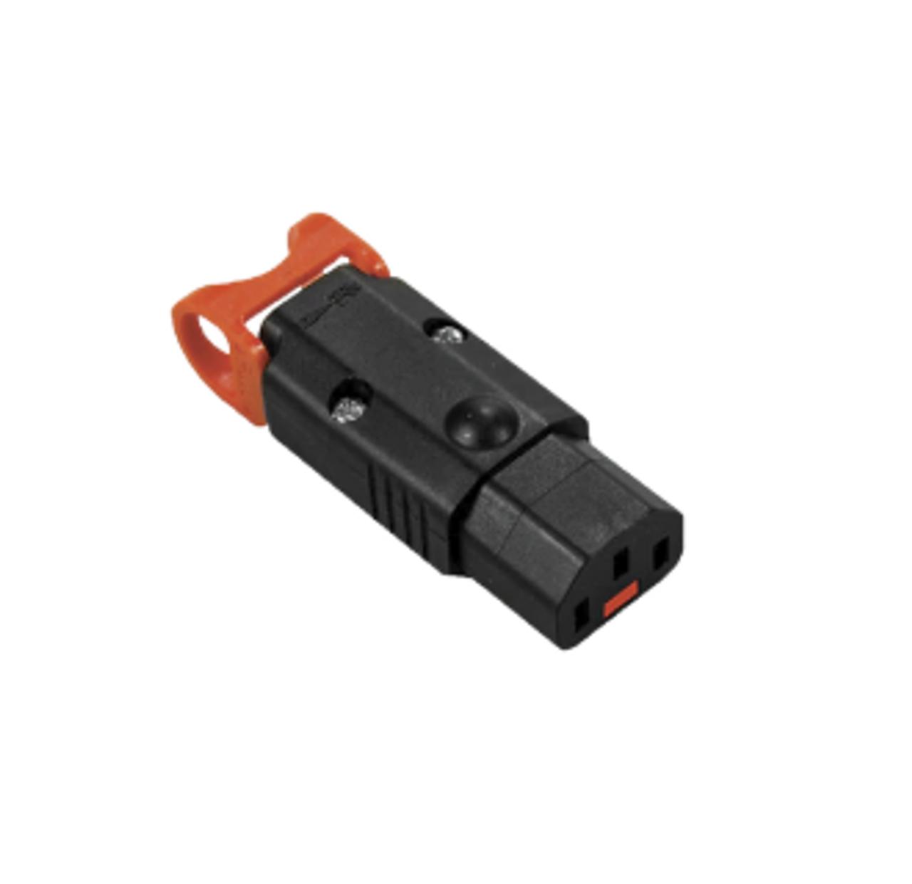 IEC-Lock+ C13 10A socket - Black (LSZH)