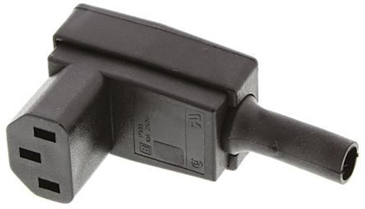 IEC C13 10A 'Bottom Entry' socket - Black