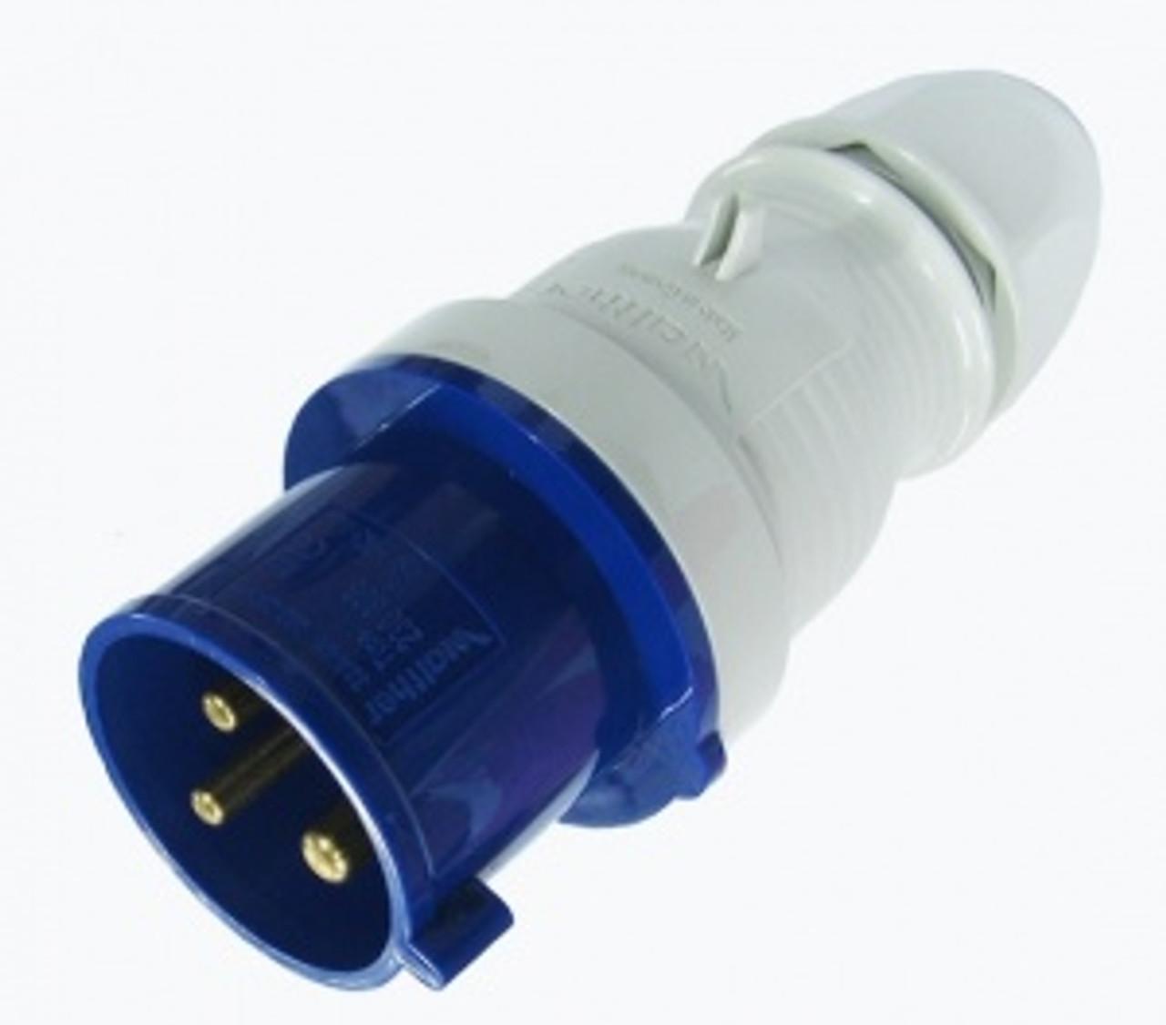 IEC (60309) 'Ceeform' 'Commando' 2P+E 250V plug
