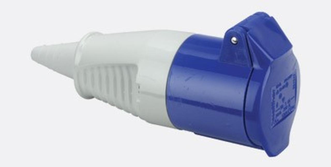 IEC (60309) 16A [IP44] 2P+E '6H' socket - Walther
