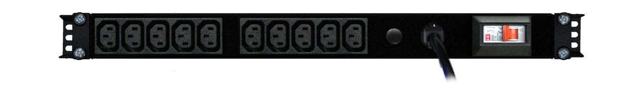 PDU: 10x Outlets | IEC C13 | 0.5m Vertical | Cable