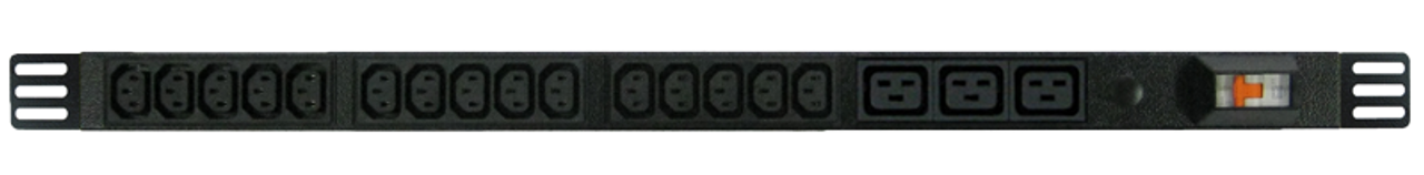 Power Strip: 15+3x Outlets | IEC C13+C19 | 0.7m Vertical