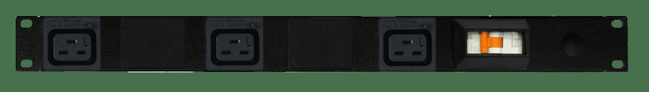 PDU: 3x Outlets   IEC-Lock C19   19'' 1RU Horizontal   Cable