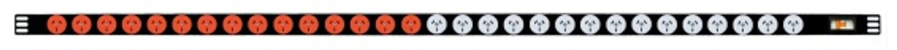 PBN30Jx :  #1 - 15x GPO 10A WHITE outlets #2 - 15x GPO 10A RED outlets
