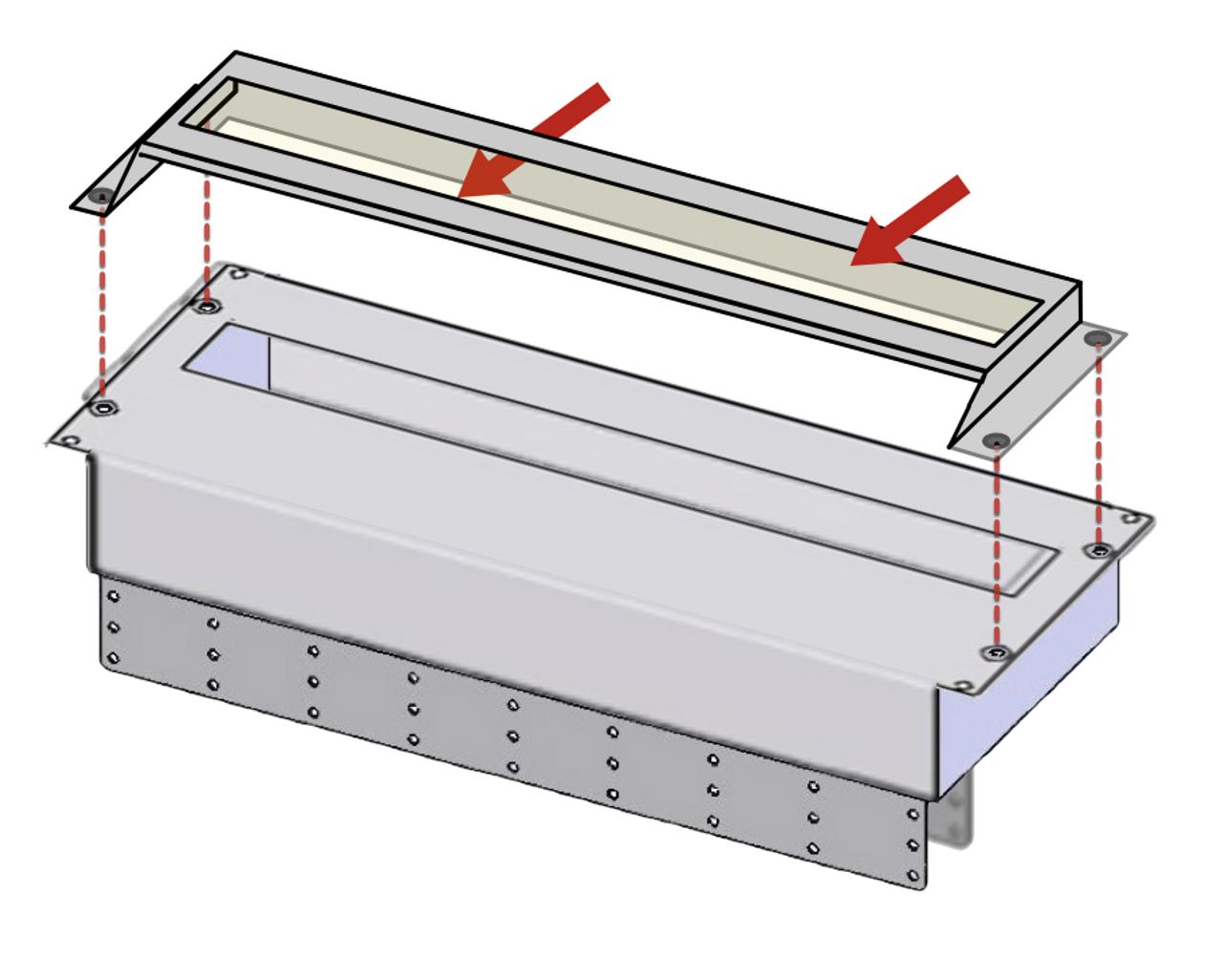 Easy installation - Showing 4RU unit