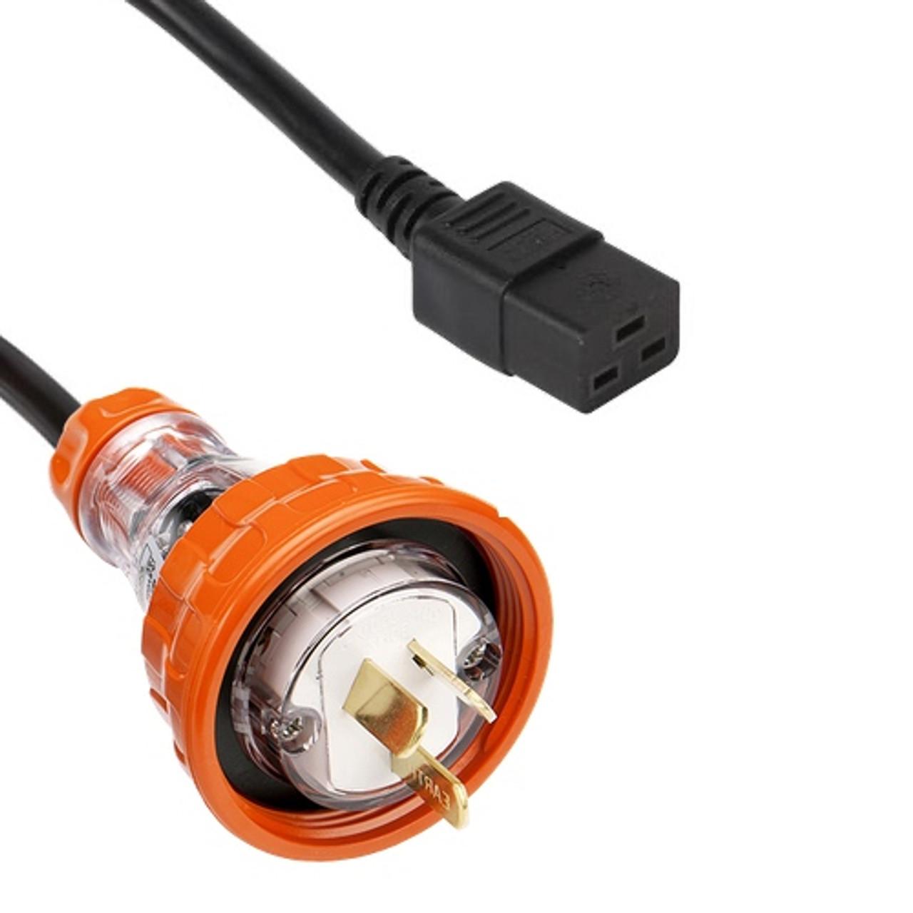 Clipsal 56P320F Flat pin > IEC C19 16A (2.5mm2)