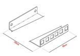 2RU depth extension bracket (set 2/pce)