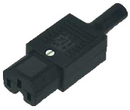 IEC C15 10A (120degC) socket - Black