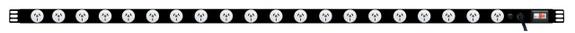 PDU: 20x Outlets | Aus GPO | 1.7m Vertical