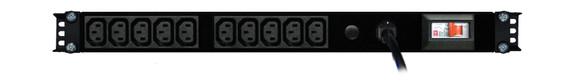 PDU: 10x Outlets   IEC C13   0.5m Vertical   Cable