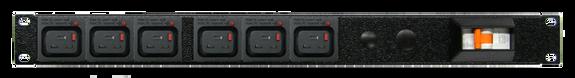 PDU: 6x Outlets | IEC-Lock C19 | 19'' 1RU Horizontal