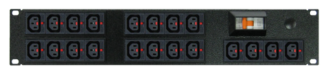 Power Strip: 20x Outlets | IEC-Lock C13 | 19'' 2RU Horizontal