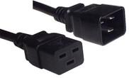 IEC C20 16A plug - IEC C19 16A socket, Black lead