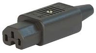 IEC C15 10A (120degC) socket [2.1mm2] - Black