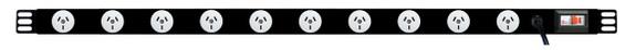 PDU: Branch   10x Outlets   Aus GPO   1.0m Vertical