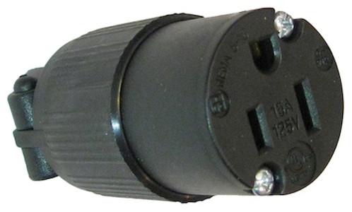 USA NEMA 5-15R 15A socket - Black
