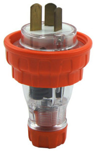Captive (AS3123) 20A [IP66] flat pin plug