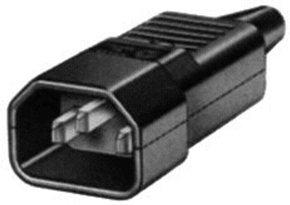 IEC C14 10A plug - Black : Imported [NSW]