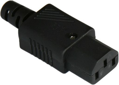 IEC C13 10A socket - Black : SAA Approved