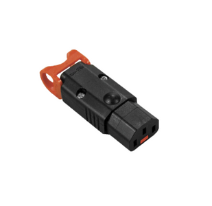 IEC-Lock+ C13 10A socket - Black (LSZH)