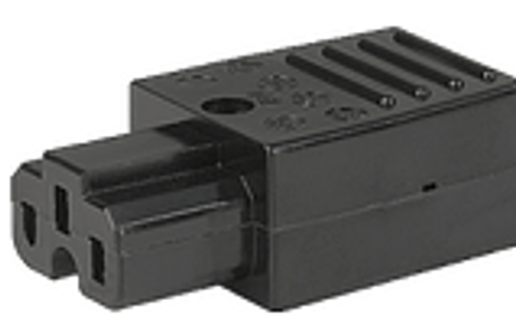 IEC C15a 10A (155degC) socket - Black