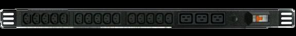 PDU: 15+3x Outlets | IEC C13+C19 | 0.7m Vertical