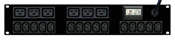 PDU: 15+6x Outlets | IEC C13+C19 | 19'' 2RU Horizontal