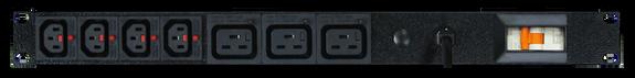 PDU: 4+3x Outlets | IEC-Lock C13+C19 | 19'' 1RU Horizontal