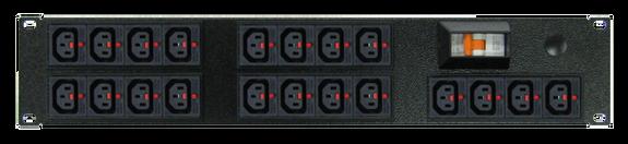 PDU: 20x Outlets | IEC-Lock C13 | 19'' 2RU Horizontal