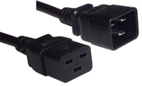 IEC C20 16A plug - IEC C19 16A socket, Black lead (2.5mm2)