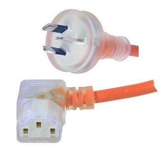 GPO 10A plug - IEC C13 10A 'Right Hand' socket, Medical lead