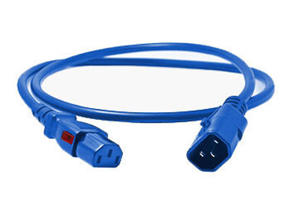 enLogic Cables: IEC C14 > IEC C13, Blue